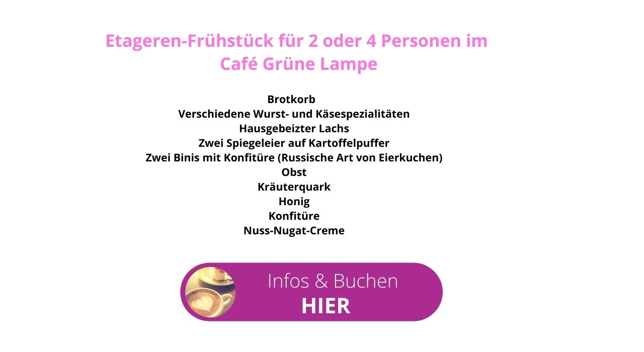 Cafe Grüne Lampe Text