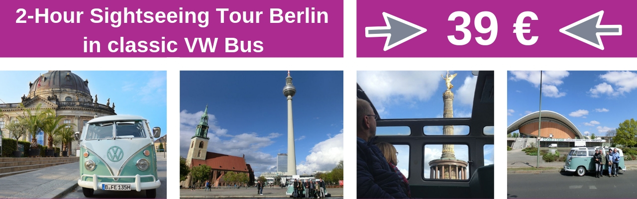 2 Hour Sightseeing Tour Berlin in classic VW Bus