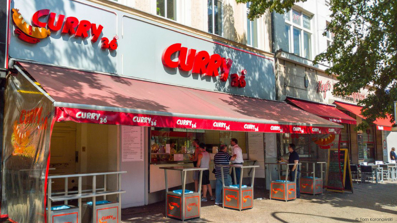 The best Currywurst in Berlin Curry 36.