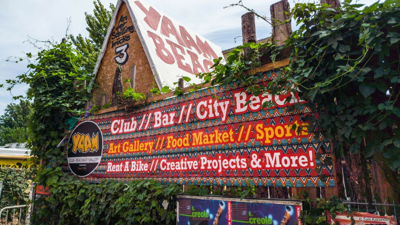 The YAAM beach bar in Berlin