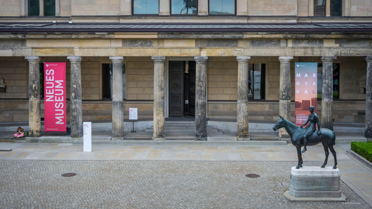 Egypt Museum and papyrus collection in the New Museum Berlin