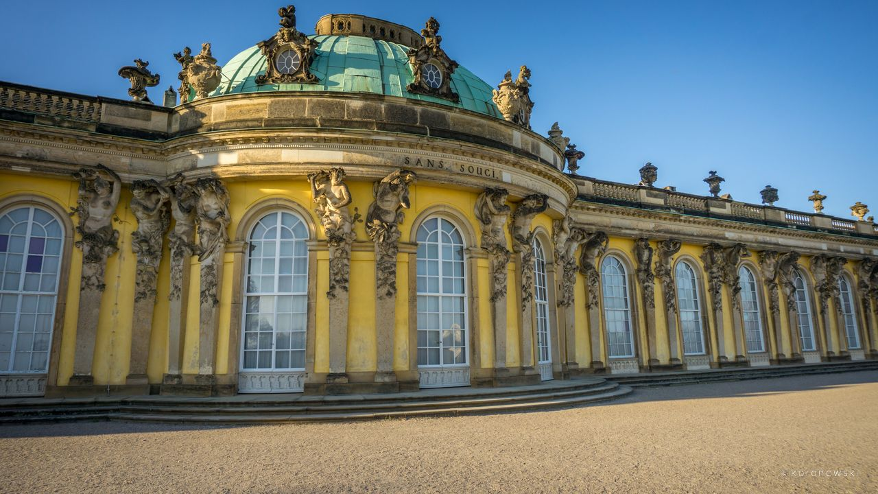 Visit Sanssouci Palace with the beautiful park.