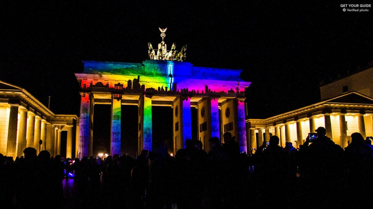 Take a two-hour bus ride with live commentator through illuminated Berlin during the Festival of Lights.