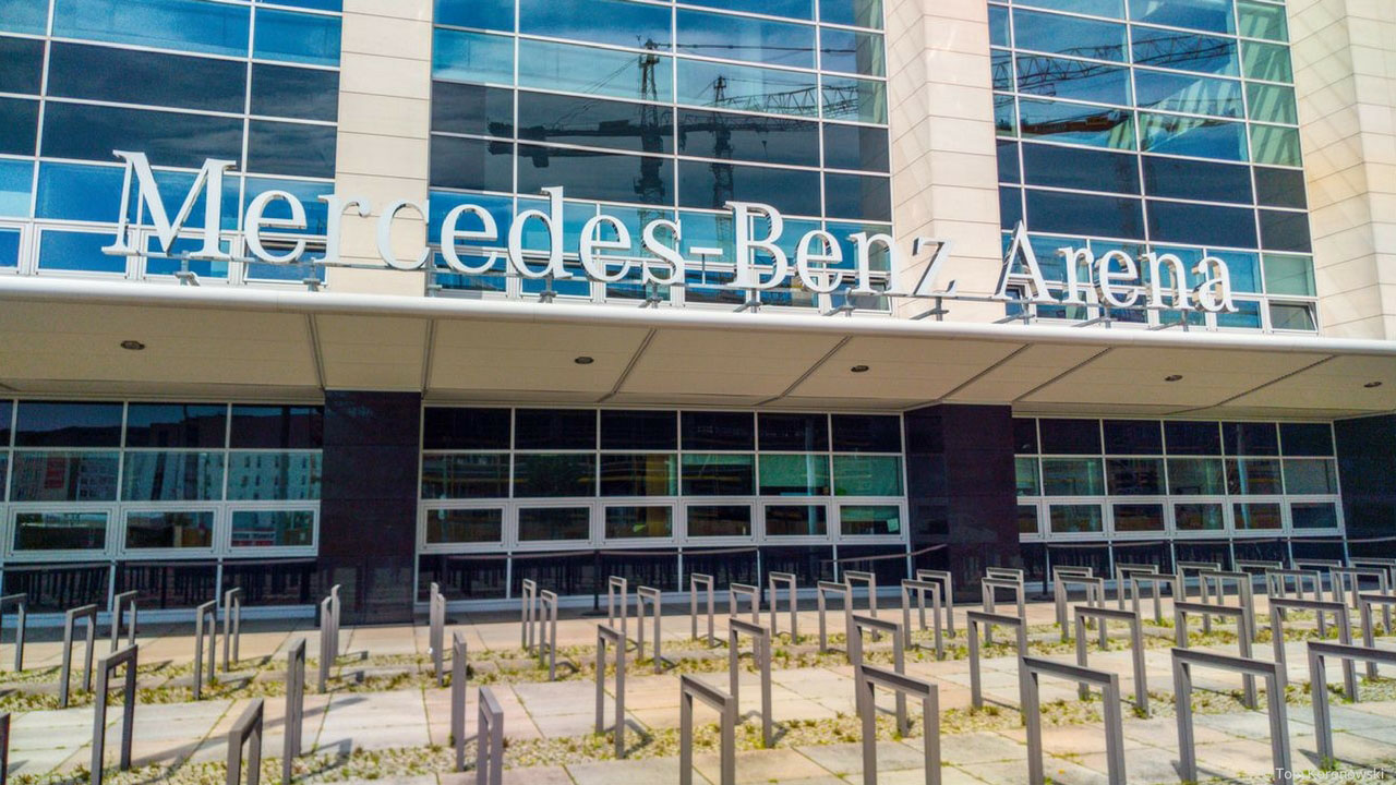 visit the Mercedes Benz Arena Berlin